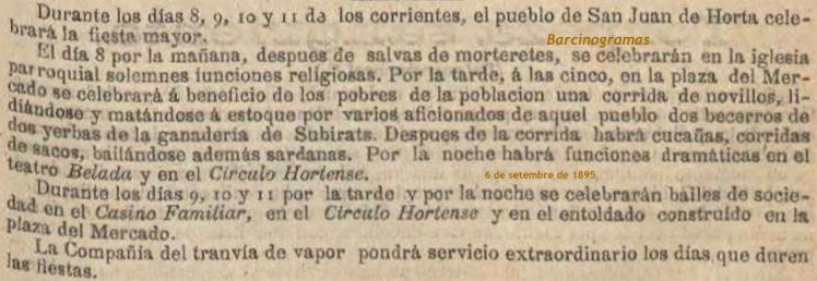 La Festa Major d'Horta a 1895