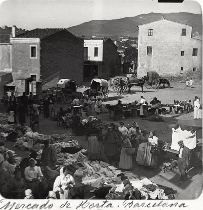 El mercat d'Horta a finals del segle XIX.